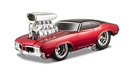 Cars Muscle Machines (NEW 1:24 DISPLAY MAISTO MUSCLE MACHINES - RED 1970 OLDSMOBILE 442 Diecast Model Car By Maisto)