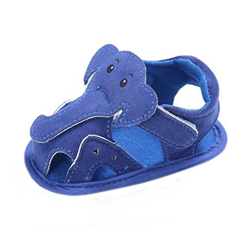 OverDose Baby Säugling Kinder Mädchen Jungen Stoff Soft Sole Krippe Kleinkind Neugeborene Sandalen Schuhe Blau