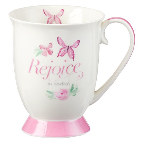 (Mug - Rejoice in Today, White, 12 Ounce)