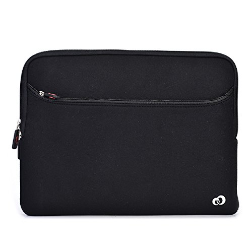 Kroo Neoprene Sleeve Universal Size for Dell Inspiron 15 5000 Series Laptop, Black Raven
