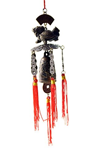 Chinese Feng Shui Wind Chime ---Lucky Dragon Turtle Wind Chime Good for - Alloy Careers
