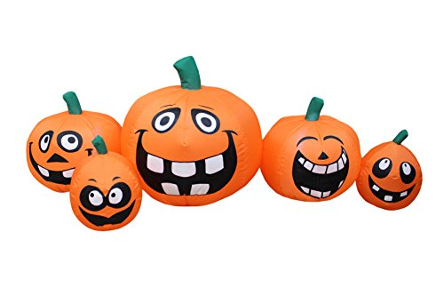 5 Foot Wide Halloween Inflatable Funny Cute Pumpkins Patch Indoor Outdoor Garden Yard Decoration