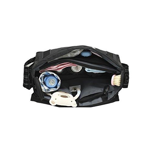 Lässig lmb10101179Casual Messenger Bag Anti-Reflective Stars multicolor azul marino negro y blanco