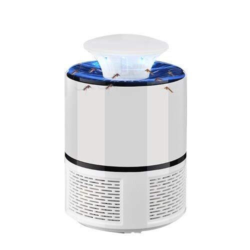 USB Electronics Mosquito Killer Lamp Pest Control Electric Mosquito Killer Fly Trap LED Light Lamp Bug Insect Repeller Zapper   White
