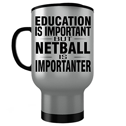 (NETBALL Stainless Steel Travel Mug - Good for Gifts - Unique Coffee Cup Accessories )