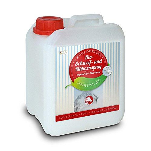 Mühldorfer Bio-Schweif- und Mähnenspray Nachfüllpack, 2500ml (Pflegemittel für Pferde)