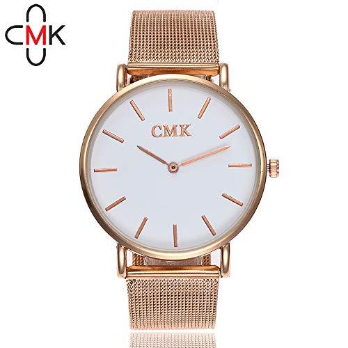 Loolik Cuarzo Relojes,Moda Inoxidable de la Banda de Acero del Cuarzo para Relojes Mujer