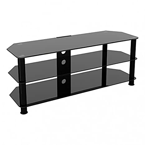 new style 21df3 58a25 King Glass TV Stand for HD LED LCD 4K 8K QLED TVs up to 65