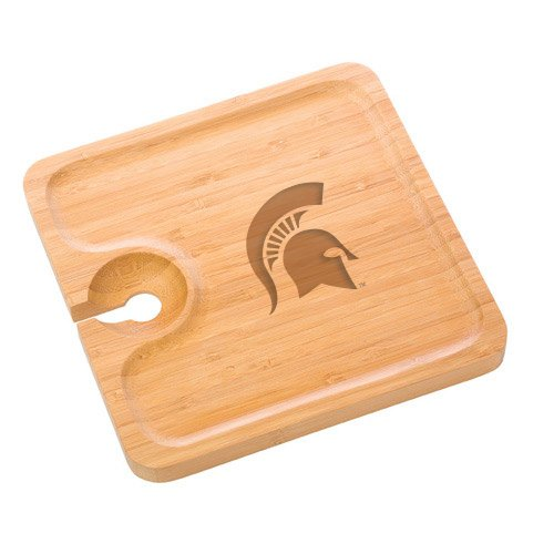 Michigan State Bamboo Party Plate