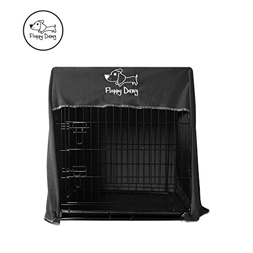 Floppy Dawg Crate Cover. Fits 42 Inch Dog Crates or Smaller. Easy to Put On, Take Off, and Adjust. Doubles as a Comfy Blanket. Slate Gray Lightweight and Breathable Polar (Dog Plastic Bedding)