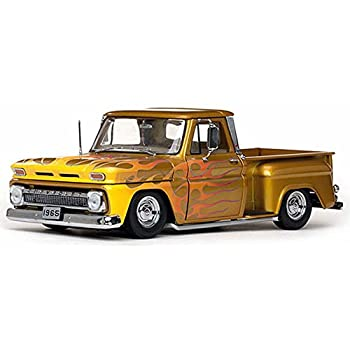 Amazon Com 1965 Chevy C 10 Stepside Lowrider Pickup Truck Gold