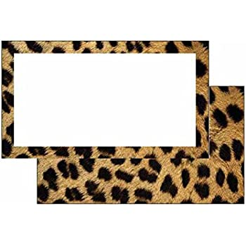 Cheetah Print Place Cards Flat Style 10 Pack Solid
