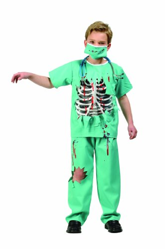 Scary Halloween Costumes For Sale (RG Costumes Scary E.R. Doctor Costume, Green/White/Red, Large)