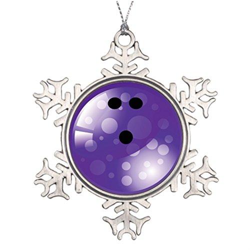 touytlyd Árboles de Navidad decorado Bolos grandes Árbol de Navidad copo de nieve ornamentos Gutter púrpura Retro bola de...