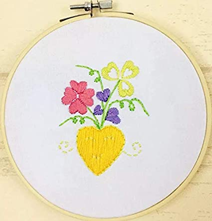 Amazon.com: Embroidery Kit for Beginner Flower Design DIY Home Wall on flower valentine crafts, box crafts, flower house crafts, flower pen crafts, flower jar crafts, flower vases for weddings, tiles crafts, flower boxes crafts, flower mosaic crafts, small flowers for crafts, flower seed crafts, flower bed crafts, beaded flower crafts, flower garden crafts, flower ball crafts, artificial flower crafts, flower christmas ornament crafts, ice cream bowl crafts, dried flower crafts, silk flower crafts,