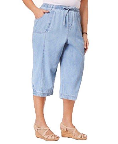 Karen Scott Sports Womens Plus Relaxed Everyday Sweatpants Blue 2X from Karen Scott
