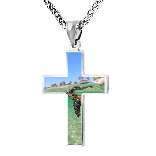 Gjghsj2 Cross Necklace Pendant Religious Jewelry Baby Sea Turtles For Men Wome -