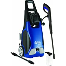 AR Blue Clean AR383 1,900 PSI Electric Pressure Washer, Nozzles, Spray Gun, Wand, Detergent Bottle & Hose