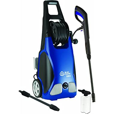 AR Blue Clean 1900 PSI Electric Pressure Washer with Spray Gun, 2 Different Nozzle Wands and 20 Foot Hose