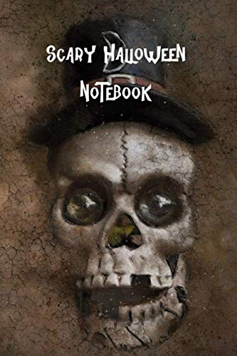 Scary Halloween Notebook: Trick or Treat, College Ruled Lined Pages Composition -