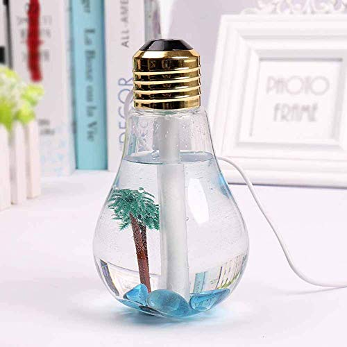 FOHKJMML Mini Bulb Humidification Dust Collector Bright Colorful Night Light USB Anti Household Aromatherapy Ultra Quiet Air Purifier Vacuum Cleaner, Gold (Color : Gold, Size : -)