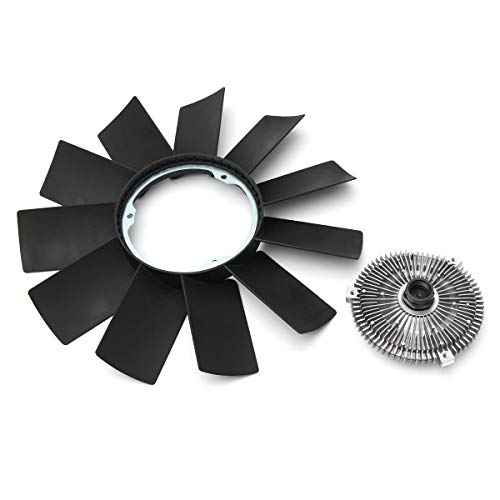 Value.Trade.Inc - 1 Set Car Engine Cooling Radiator Fan Clutch Fan Blade Plastic For BMW E46 E39 328i 535i M5 X5 Cooling System Fans & Kits Black ()