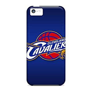 Scratch Resistant Hard Cell-phone Cases For Iphone 5c With Allow Personal Design Attractive Cleveland Cavaliers Image ColtonMorrill