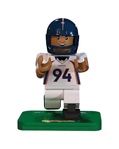 NFL GEN3 Denver Broncos DeMarcus Ware Limited Edition Minifigures, Blue, Small