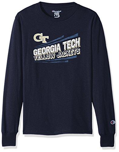 Champion NCAA Georgia Tech Youth Boys Long sleeve Jersey Tee, Medium, (Champion Boys Tech Tee)