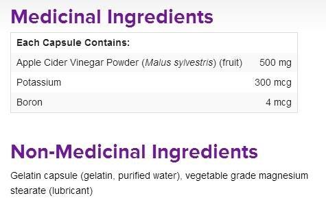 Webber Naturals Apple Cider Vinegar 500 mg, 240 Capsules