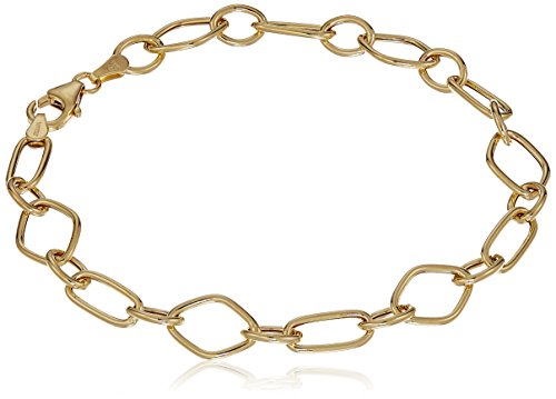 - 14k Yellow Gold Geometric Links Bracelet, 8