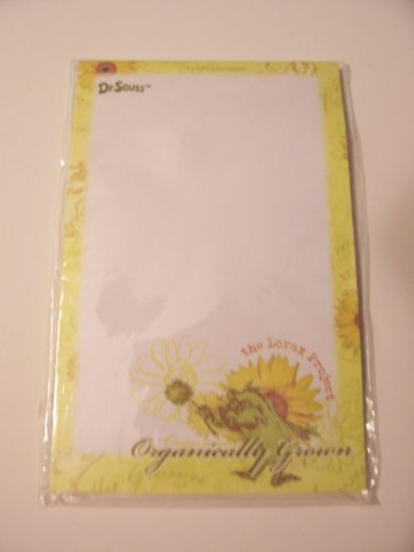 Dr. Seuss The Lorax Project Sticky Notes from Recycled Matierials ~ Organically Grown (40 Sheets)