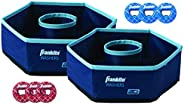 """Franklin Sports Washer Set - (2) 12"""" x 12"""" Folding Targets - Portable Fun - Perfect for Beach, Tailg"""