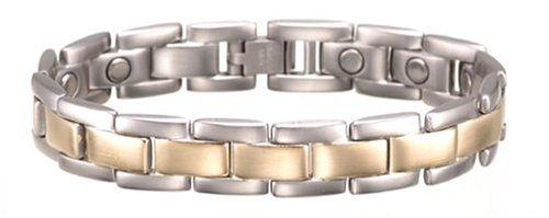 UPC 700413324808, Sabona Executive Brushed Duet Magnetic Bracelet- X-Large