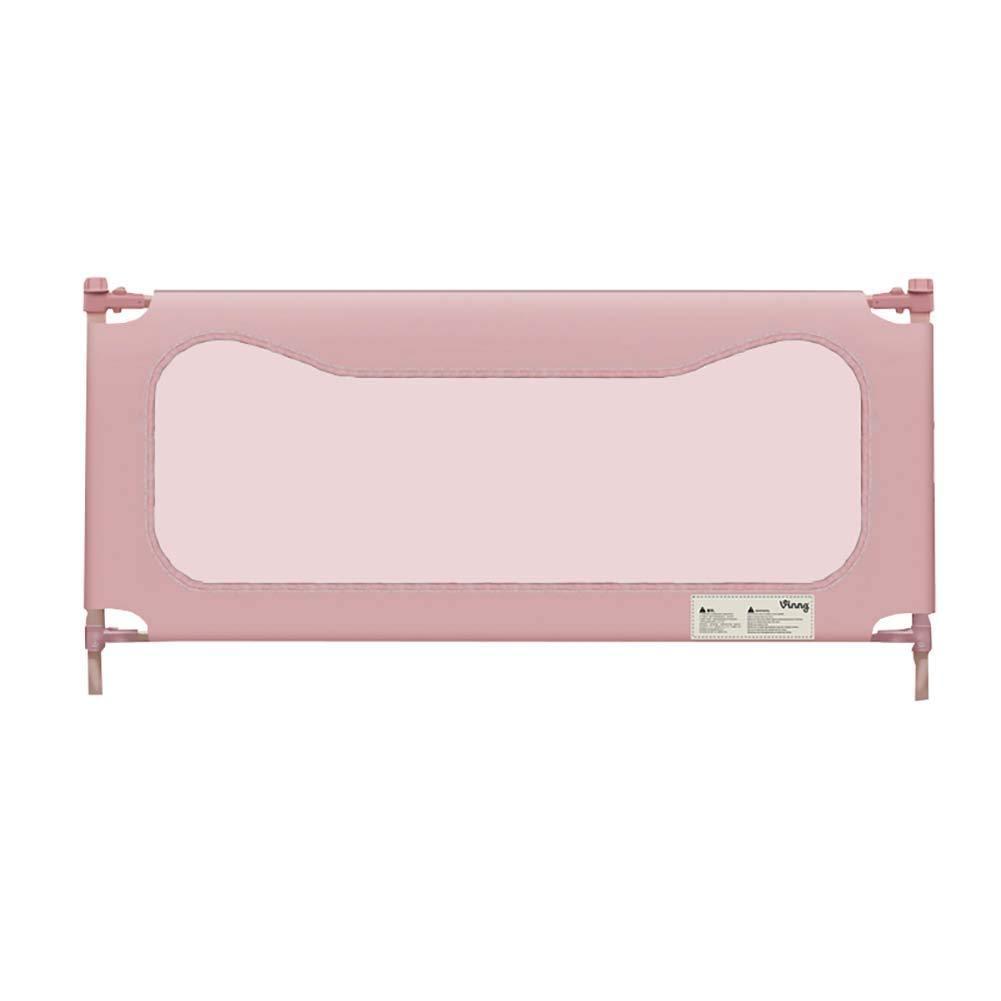 ベビーサークル キングサイズベッド用のベビーベッドレール、ツインベッド用の幼児用ピンクベッドレール、調節可能な子供用セーフティベッドガード(1パック) (サイズ さいず : 1.5m) 1.5m  B07JB6888Y