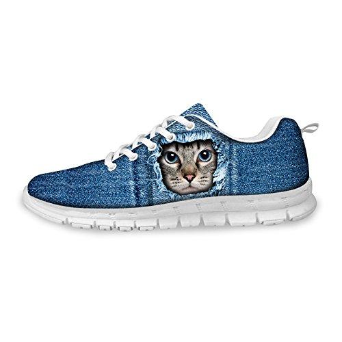 Cool Cat Print Dames Sneakers Schoenen 38