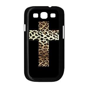 Samsung Galaxy S3 Cases Leopard Grain Cross, Cross [Black]