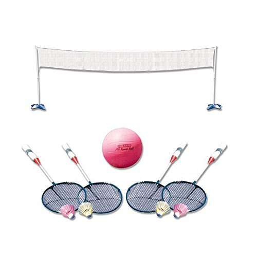Poolmaster 72788 Across Pool Volleyball / Badminton Game Combo (Sport Water Volleyball Deluxe)