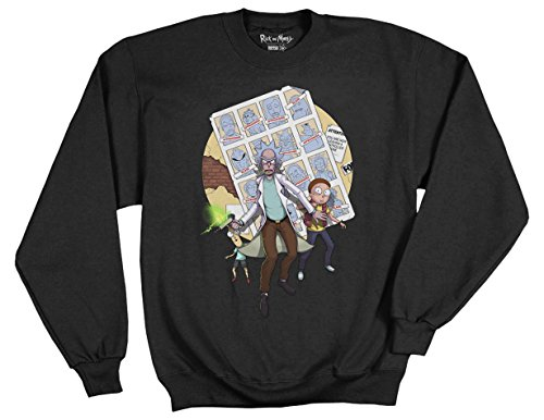 Ripple Junction Rick and Morty Ricks of Futures Past Teratophile 1st Place Adult Sweatshirt Medium (1 First Place)