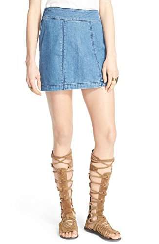 Free-People-Zip-It-Denim-Miniskirt-Size-2