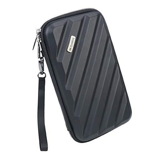 - Iksnail Electronics Organizer Travel Bag, Hard Gadget Accessories Storage Carrying Pouch for GPS Units, Mobile Phones, Digital Cameras, The Flip, iTouch and Much More, Black