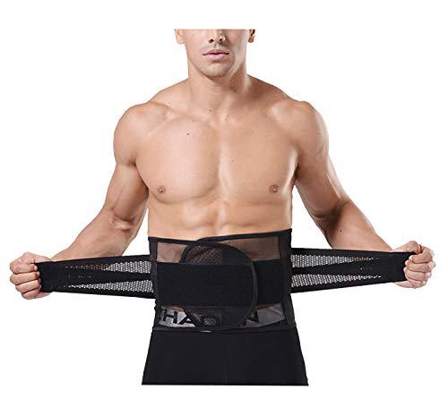 AIEOE Trimmer Belt, Men Women Waist Trainer Waist Cincher Tummy Fat Burning Slimming Belt L - Black ()