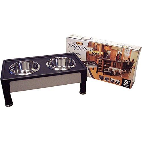 Signature Series 8-inch Black Pet Diner, Material: Wood - Pets Signature Series Feeder