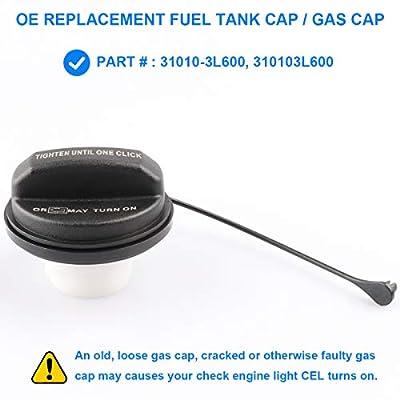 Gas Cap, Fuel Cap Replace 31010-3L600, 310103L600 for Hyundai - Accent, Azera, Elantra, Elantra GT, Entourage, Equus, Genesis, Genesis Coupe, Ioniq, Santa Fe, Sonata, Tucson, Veloster, Veracruz, More: Automotive