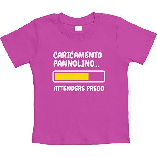 Shirtgeil Neonato Maglietta Rosa Pannolino Regalo Attendere Unisex Caricamento Prego zXvrwHzq