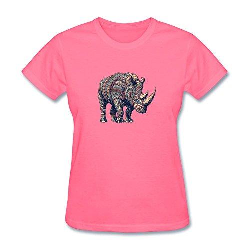 xieling-womens-aztec-rhino-design-cotton-t-shirt
