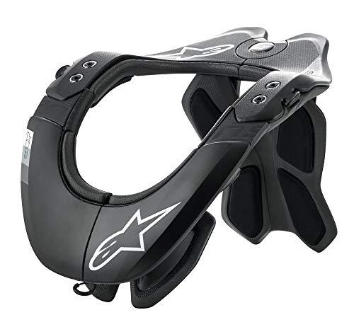 Alpinestars Bionic Neck Support - Alpinestars Bionic Neck Support Tech 2 (L/XL, Black Cool Gray)