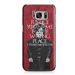 Samsung S7 Edge Case Game of Thrones Case Trion Lannister if You Want Justice You Came to The Wrong Place Quote tv Show Metal Plate Light Weight Samsung S7 Edge Cover Wrap Around