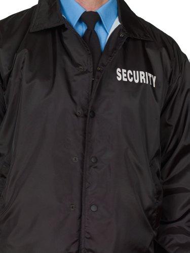 Amazon.com : Security Windbreaker Jacket Black Lined 100% Brushed ...