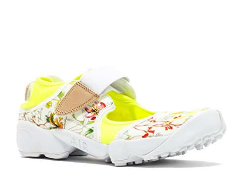 Nike Women's Wmns Air Rift LIB QS, LIBERTY-WHITE/VOLT-VACHETTA TAN, 6 US